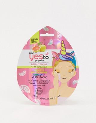 Yes to Grapefruit Vitamin C Glow-Boosting Unicorn Mud Mask Single Use