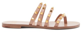 Valentino Rockstud Flair Leather Sandals - Nude