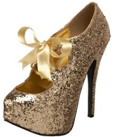 Pleaser USA Bordello by Women's Teeze 10 Glitter Platform Pump
