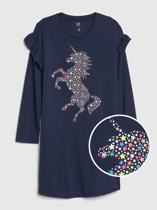 Gap Kids Ruffle Unicorn PJ Dress