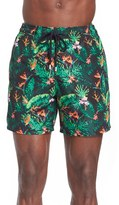 Vilebrequin Men's 'Mahina' Pixelated Floral Print Swim Trunks
