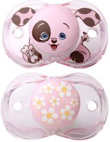 Razbaby RAZ-BABY KEEP IT CLEAN PACIFIER BUNDLE - FLOWERS & HEARTS DESIGN AND PUPPY DESIGN - 2 ITEMS SUPPLIED (Dispatched From UK)