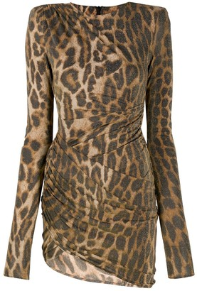 Alexandre Vauthier Leopard-Print Gathered Dress