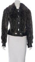 Rachel Zoe Faux Fur-Trimmed Leather Jacket