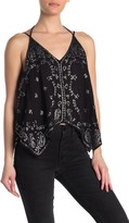 Free People Going Out In Austin Sequin Camisole Top