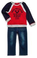 True Religion Baby's Raglan Tee & Denim Pants Set