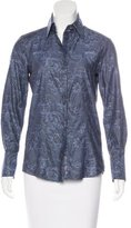 Robert Graham Brocade Button-Up Top