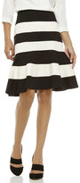 Spense Color Block Knit Flounce Skirt