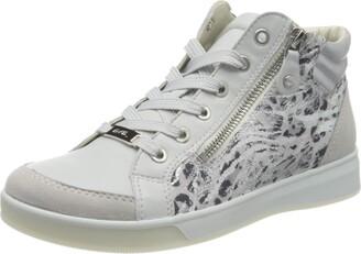 ara Women's ROM Hi-Top Trainers Grey (Sasso Nebbia/Silber 14) 4 UK