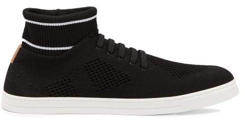 0f6cc2b6 Knitted Low Top Trainers - Mens - Black