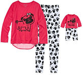 Asstd National Brand Komar Kids Pugs Love Pant Set with Matching Doll Outfit - Girls 7-16