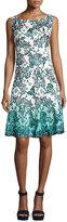 Chetta B B1708928 Sleeveless Multi-Print A-Line Dress