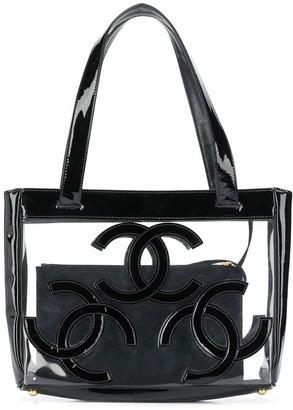 Chanel Pre Owned 2000s interlocking CC beach bag
