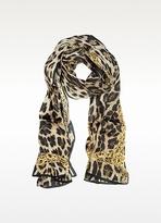 Roberto Cavalli Animal Print Silk Stole