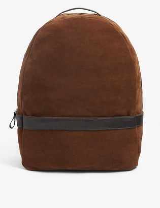 Eleventy Zipped suede backpack