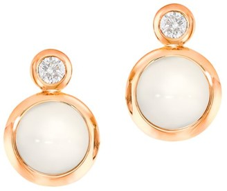 Tamara Comolli Classic Bouton 18K Yellow Gold, Moonstone & Diamond Stud Earrings