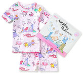 Books To Bed Little/Big Girls 2T-10 Angelina Ballerina Fitted Two-Piece Pajamas & Book