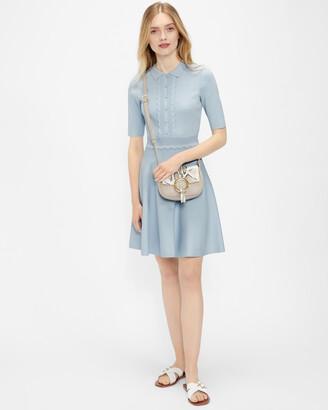 Ted Baker TILLIII Scallop Bodice Knitted Dress