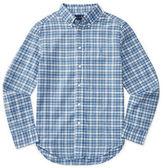 Ralph Lauren Childrenswear Cotton-Flax Madras Plaid Sports Shirt