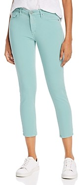 AG Jeans Prima Mid-Rise Cropped Skinny Jeans in Mint Jade
