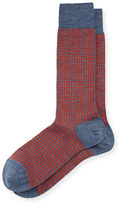 Neiman Marcus Merino Wool-Blend Houndstooth Socks