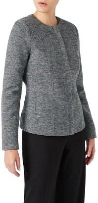 David Lawrence Mari Felted Wool Biker Jacket