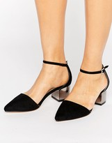 Truffle Collection Point Toe Kitten heel Shoe