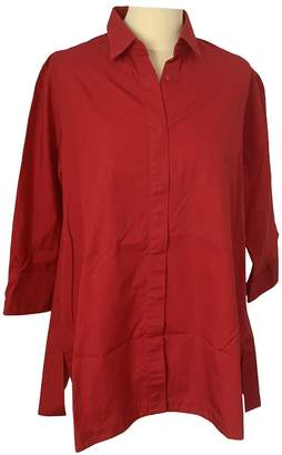Max Mara Red Cotton Top for Women