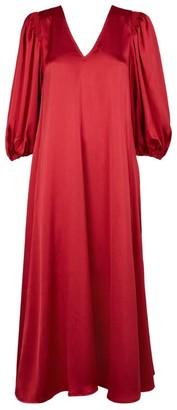 Stine Goya Marlen V-Neck Satin Dress