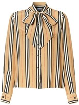 Burberry Amelie Vintage Stripe Silk Blouse