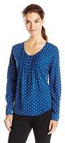 Dockers Women's Long-Sleeve Pullover Pintuck Blouse