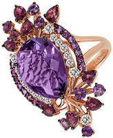LeVian Multicolor Amethyst Ring in 14K Strawberry Gold
