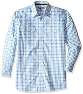 Wrangler Men's Big and Tall George Strait Two Pocket Long Sleeve Woven Shirt