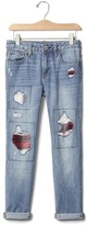 Gap GapKids + Pendleton rip & repair girlfriend jeans