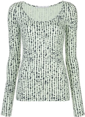 Dot Jacquard Knitted Top