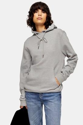 Topshop Womens Grey Everyday Hoodie - Grey Marl
