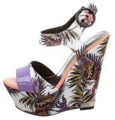 Just Cavalli Printed Platform Wedge Sandals w/ Tags