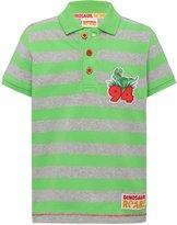 M&Co Dinosaur Roar stripe polo shirt