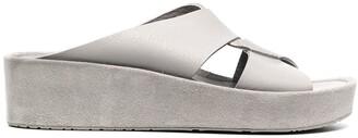 Pedro Garcia Cross Strap Platform Sandals