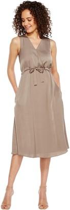 Ellen Tracy Women's Front Tie Wrap Dress