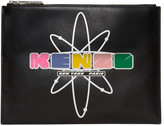 Kenzo Black Leather Cory Pouch