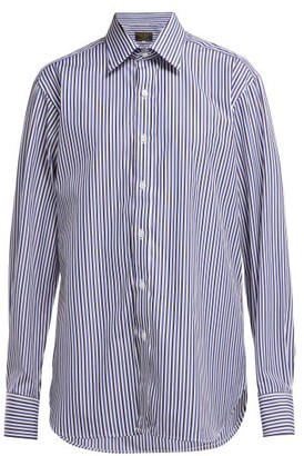 Emma Willis Bengal-striped Cotton Shirt - Womens - Blue Multi