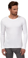 Maine New England White Brushed Thermal Long Sleeved Top
