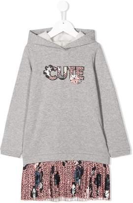 Liu Jo Kids Cute leopard print hoodie dress