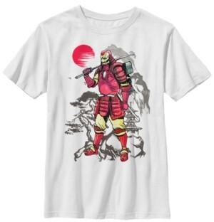 Fifth Sun Marvel Big Boys Iron Man Samurai Mountain Sunset Short Sleeve T-Shirt