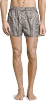 Alexander McQueen Bones Printed Boxer Shorts, Natural/Black