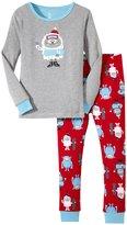 Petit Lem Yeti Snowboard PJ Set (Toddler/Kid) - Gray/Red-4