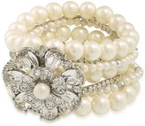 Carolee Grand Entrance Faux-Pearl Stretch Bracelet