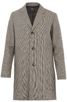 A.P.C. Tristan cotton and linen-blend overcoat