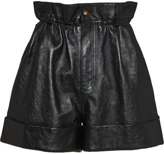 Miu Miu Lambskin Leather Shorts